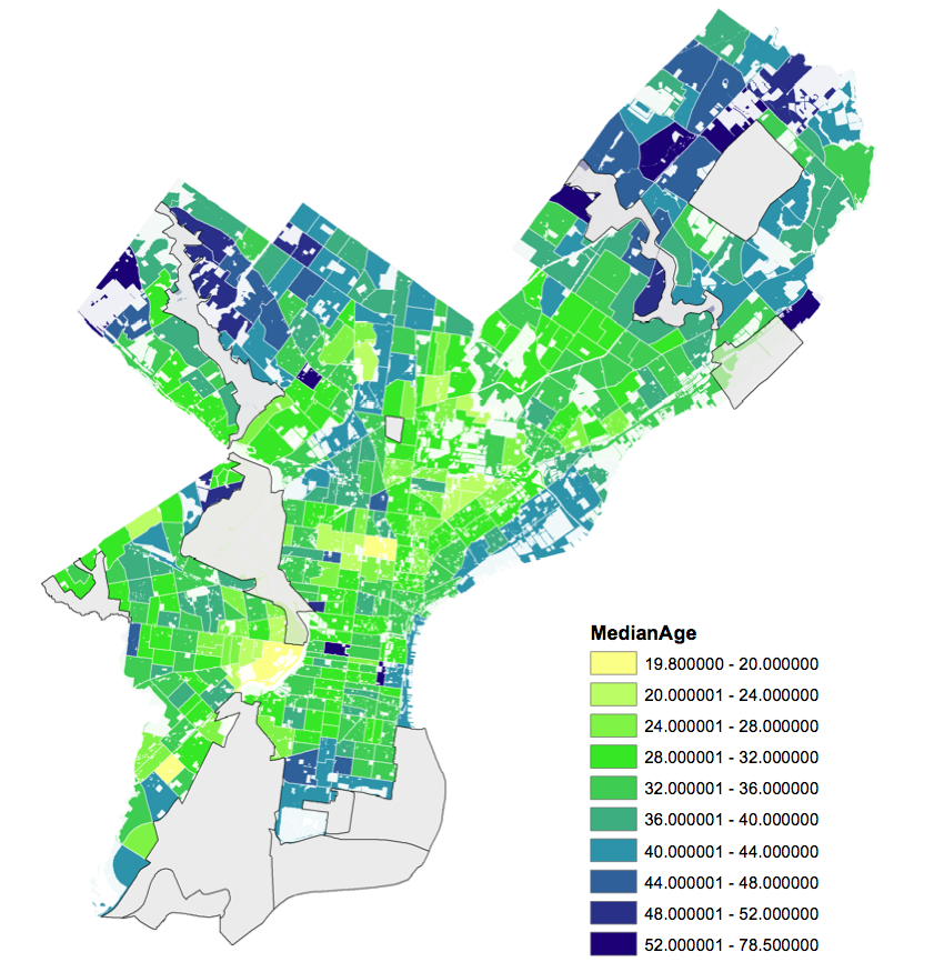 Map: Find the median age in your area of Philly